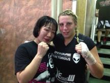 Yuiga and Lucas post fight