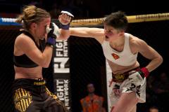 Costigan (white) vs. Delagnau (black) courtesy Cage Warriors