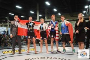Left to Right -  Tom Madsen (IMMAF) Sarah Jamilia (DEN), Aleksandra Milczarek (POL), Lucrezia Ria (ITA), Nicole Brown (USA), Erika Mattsson (IMMAF)