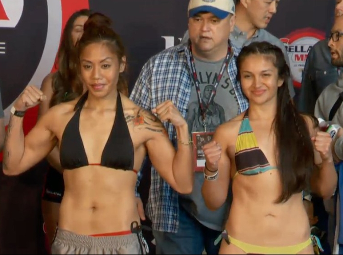 Watch Stephanie Frausto vs Jaimelene Nievera at Bellator MMA 154 Here Saturday