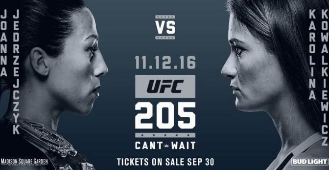 Watercoler: UFC 205 Adds Jędrzejczyk vs. Kowalkiewicz; Tate vs. Pennington