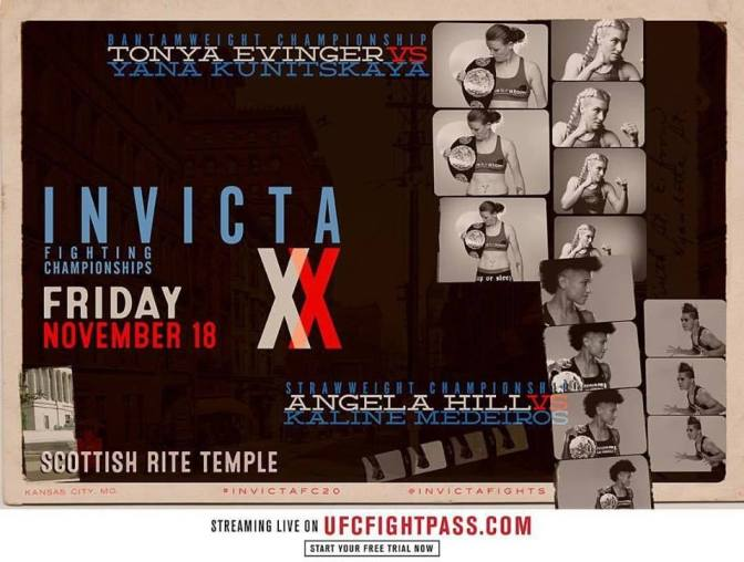 InvictaFC 20 Card Announced; 135 and 115 Straps on the Line