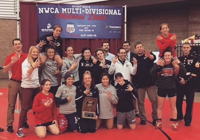 King University Women's Wrestling Takes 4th Straight Title