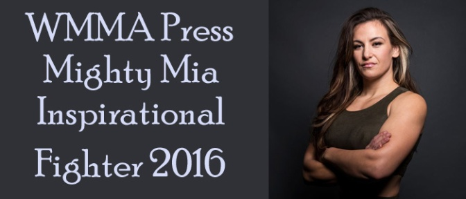 "Miesha Tate Honored as WMMA Press ""Might Mia"" Award"