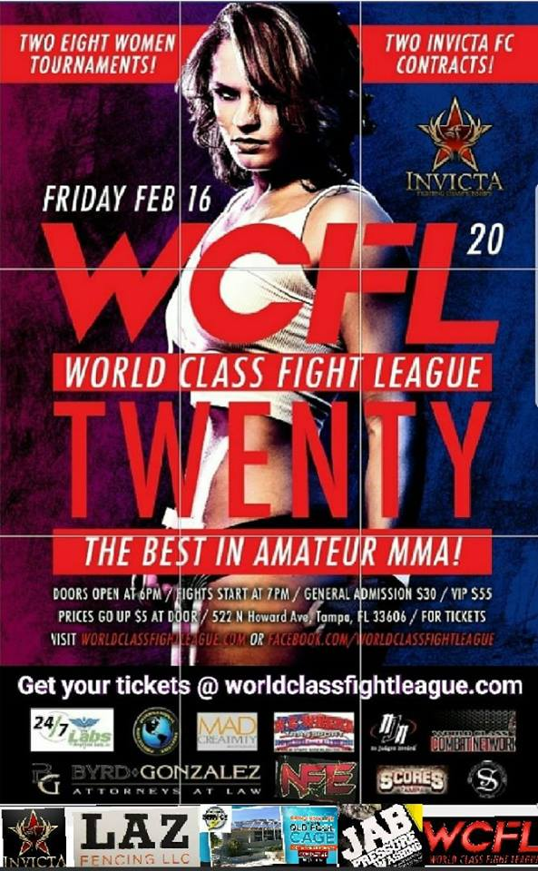 WCFL Announces Seeding for its InvictaFC Contract Tournaments